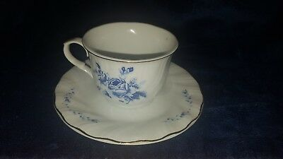 Truly Tasteful Fine China Cup and Saucer Blue Roses!!!!!!