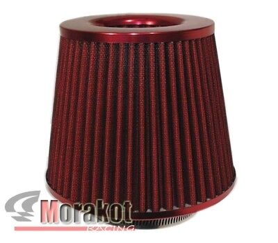 """[RED] UNIVERSAL 2.5"""" INCH 63mm HIGH FLOW COLD AIR SHORT RAM INTAKE FILTER CONE"""
