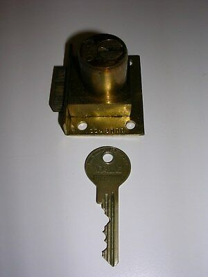 O.D. Jennings Slot Machine Yale Lock w/ Key, Both Original & Matching, Spare Key