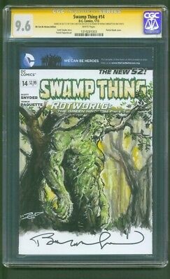 Swamp Thing 14 CGC 9.6 SS Bernie Wrightson Carlton Original art Sketch 18 Movie
