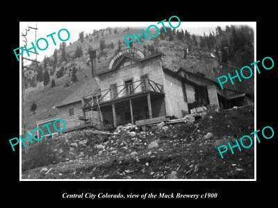 OLD LARGE HISTORIC PHOTO OF CENTRAL CITY COLORADO, THE MACK BREWERY c1900