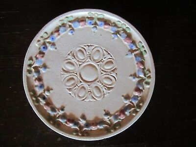 Rare Antique CHICAGO CRUCIBLE Pottery ~ Arts & Crafts Era Footed Tile