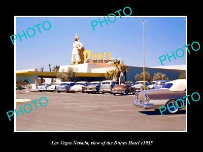 OLD LARGE HISTORIC PHOTO OF LAS VEGAS NEVADA, VIEW OF THE DUNES HOTEL c1955