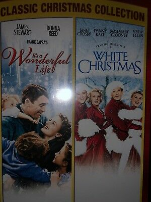 New Its A Wonderful Life & White Christmas Class Christmas Collection DVD