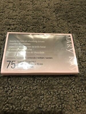 Mary Kay BEAUTY BLOTTERS Oil Absorbing Tissues 75 Count SEALED