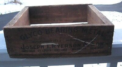 Vtg Glyco Bearing Transmission Metal Ryerson & Sons Rustic Advertising Wood Box