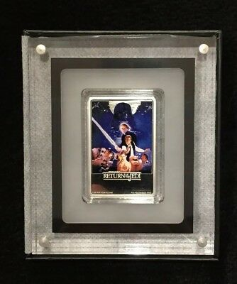 2017 Star Wars Return Of The Jedi 1oz Silver Poster Coin