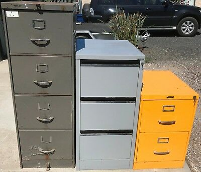 Filing Cabinets Storage Cabinets Workshop Tool Storage Cabinets Lot of 3