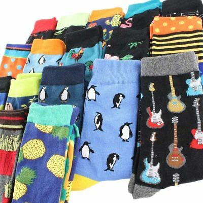 Men Socks Cool Food Animal Hip Hop Crew Funny Street Happy Skateboard Chausse