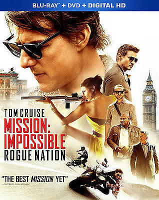 Mission: Impossible Rogue Nation Blu-ray/DVD, 2015, 2-Disc Set W/Slipcover USED