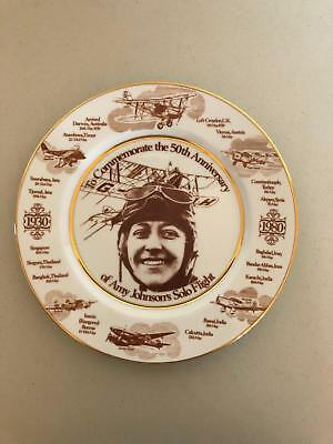 Amy Johnson Solo Flight Collectible Plate