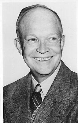 Scarce Dwight D Eisenhower IKE 1952 Presidential Campaign Portrait Photocard