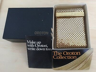 Vintage Oroton Cigarette Case Mint Condition UNUSED Made in West Germany