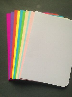 20 Blank Multi Coloured 80 gsm paper inserts for A6 cards - All Occasions