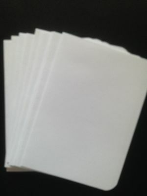 20 Blank White 80 gsm paper inserts for A6 cards - All Occasions