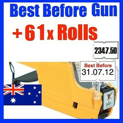 BEST BEFORE use by PRICE PRICING GUN LABELLER +61 ROLLS LABEL BFG-6