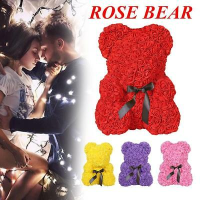 *Red Rose Bear Flower In Box Gifts For Wedding Birthday Valentine's Day*New