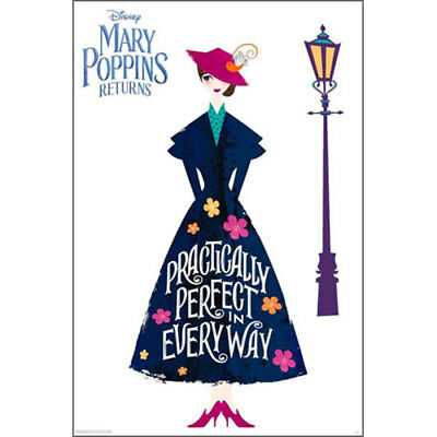 Mary Poppins Returns - Practically Perfect POSTER 61x91cm BRAND NEW