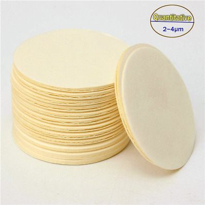 100PCS Labs Premium Filter Paper Quantitive Ashless Slow Rate(2~4μm) 125 Dia,