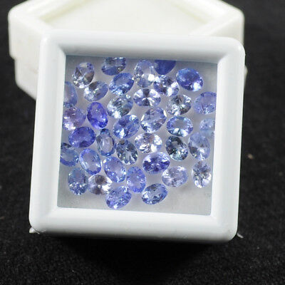 36 Pcs/4x3mm~Natural Top Violet Blue Tanzanite Oval Cut Gems 5.80 Cts Free Ship