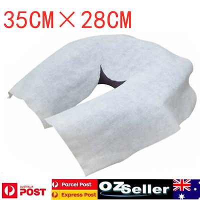 100/200pcs Massage Table Rest Cover Face Cushion Sheets Disposable Cradle Cover