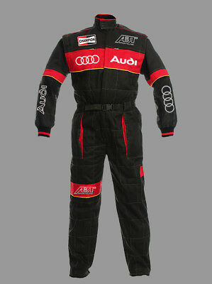 New unisex overall Audi ABT, Red/Black, auto service work wear, embroidered logo