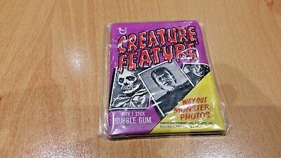 1970s TOPPS CREATURE FEATURE SEALED  WAX PACK WRAPPER, GUM. RARE