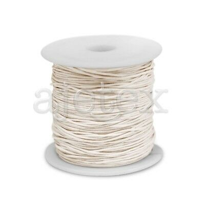 1 Roll 70M Waxed Cotton Cord Jewellery Craft Beading Thread Thong 1x1mm Beige