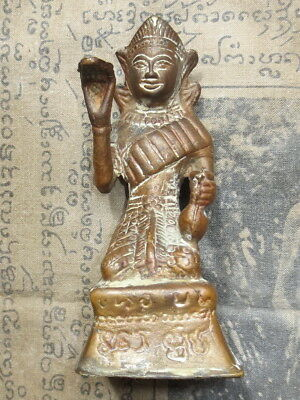 So Big Rare Antique Nang-Kwak Statue LP Khun Wat Baan Rai Old Thai Buddha Amulet
