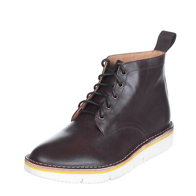 EDWARD SPIERS Leather Ankle Boots Size 41 UK 7 Polished Panel Made in Italy