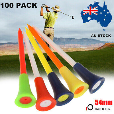 100X Golf Rubber Tees With Cushion Top 54MM  Plastic TeeMulti Color AU Stock