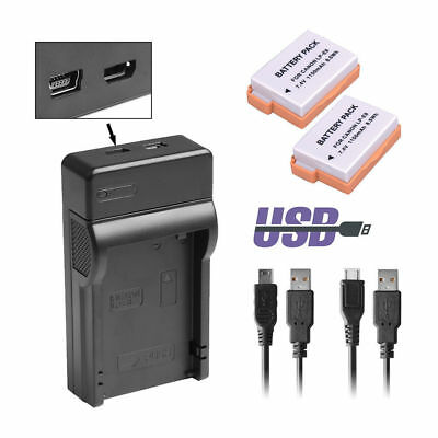 2x Battery + USB Charger LP-E8 For Canon EOS 550D 600D 650D Rebel T4i Kiss X5 UK
