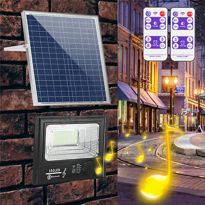 50W 200W LED Bright Solar Power Flood Light Spotlight Outdoor Wall Street Lamp