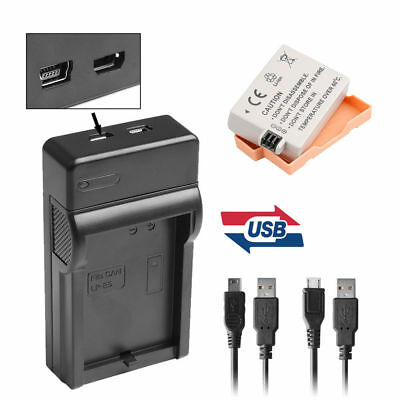 USB Charger+1150mAh Battery for Canon E5E LP-E5 EOS 450D 500D 1000D Rebel Xsi