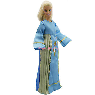 Blue Robe Long Sleeve Clothes Retro Outfit Dress For 12 in. Doll High Quality A