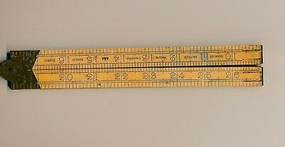 Vintage Radbone Chesterman Folding Ruler No.1380 Boxwood 36 inches