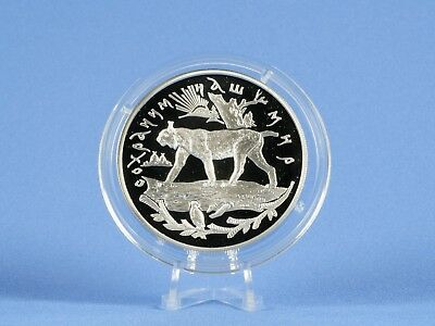 Russland 25 Rubel 1995 , Luchs , Silber *PP/Proof* (4459 )