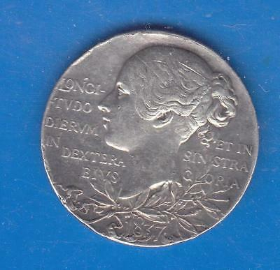 1837-1897 Official Queen Victoria Sterling Silver Diamond Jubilee Medal   W17