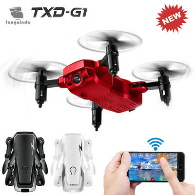 TXD-G1 Foldable Mini 4CH 2.4GHz 6 Axis Gyro RTF RC Drone WiFi Quadcopter Remote