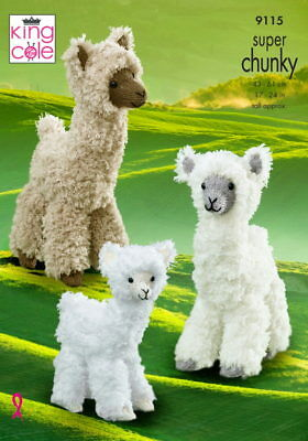 King Cole 9115 Super Chunky Alpacas Knitting Pattern