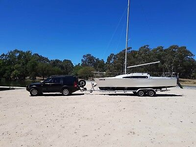 Timpenny 770 Trailer sailer for sale or swap large power boat, ok its back