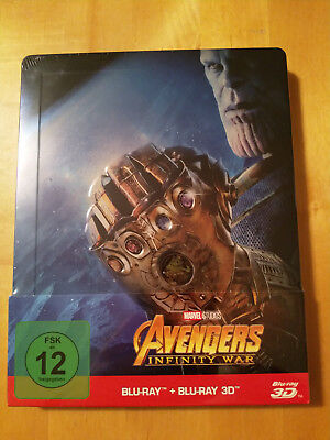 The Avengers Infinity War Blu Ray Limited Steelbook Geprägt NEU & OVP