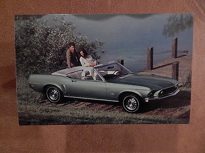 Nos 69 Mustang Original Ford Issue Sales Mailer Photo Postcard 1969 Convertible