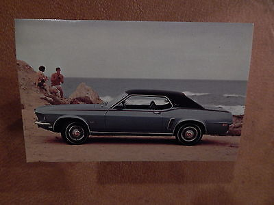 Nos 69 Mustang Original Ford Issue Sales Mailer Postcard 1969 Grande Coupe