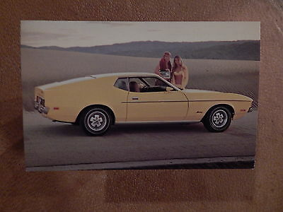 Nos Mustang Original Ford Issue Sales Mailer  Photo Postcard 1972 Fastback 72