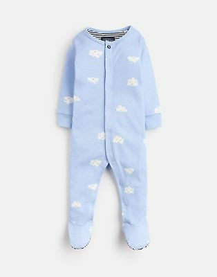 Joules Baby 203981 All Over Print Babygrow With Feet in YORKSHIRE SKY CLOUD