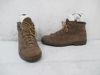 Pennys Brown Suede Leather Lace Hiking Boots Womens Size 9.5 Made in Italy