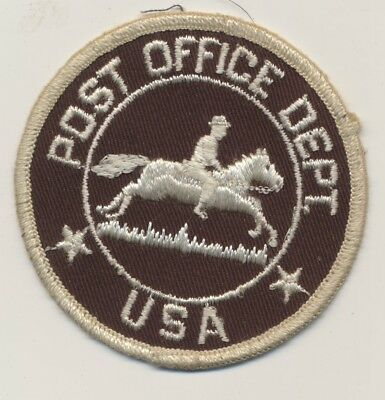 Vintage POST OFFICE DEPT  Patch Letter Carrier Obsolete US Mail USPS Old Vintage