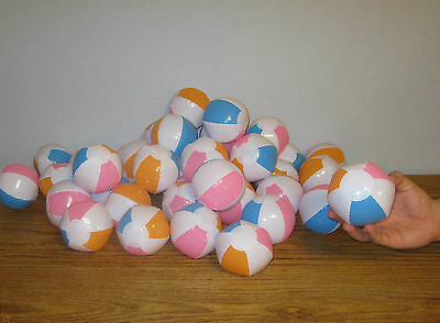 """12 MULTI COLORED BEACH BALLS 12/"""" Pool Party Beachball NEW #AA7 Free shipping"""