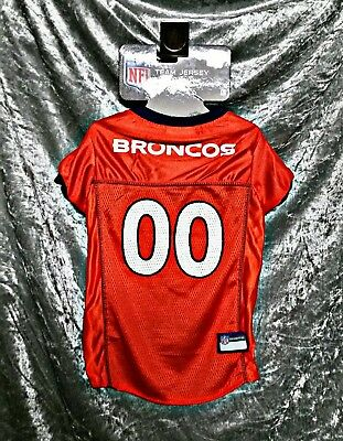 589d38f37 S NFL DENVER BRONCOS Cat Dog Pet Jersey OFFICIALLY LICENSED -  10.99 ...